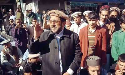 Kohistan Protest against Malik Afreen Khan's arrest