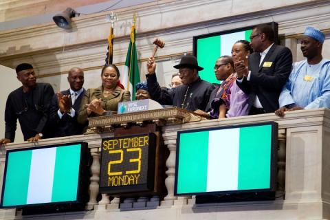 President Jonathan at NYSE