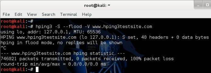 01  - 01 - hping3 – Network Scanning Tool -Packet Generator