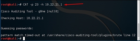 - port parameter - Cisco Global Exploiter & CAT -Exploit 14 Vulnerabilities & Auditing in Cisco
