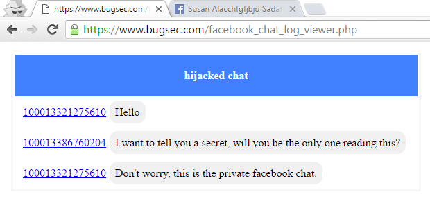 - FB image1 - Critical bug allows to read all your Private Chats of Facebook Messenger by hackers