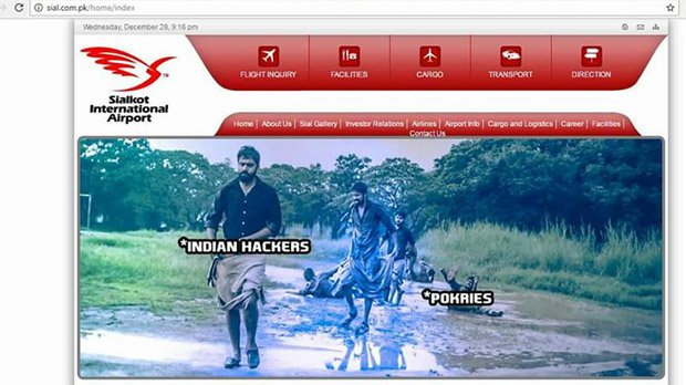 Pakistan Airport Websites Hacked : Return Revenge From