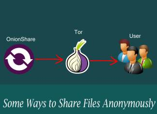 Share Files Anonymously using TOR and OnionShare