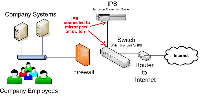 intrusion prevention system ips  and its detailed function