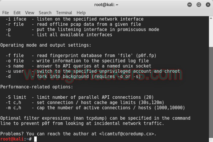 - p0f1 copy - Passive Traffic Analysis OS Fingerprinting and Forensics Tool