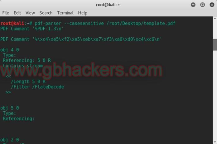 Analyzing a Malicious PDF File  - pdf10 copy - Creating and Analyzing a Malicious PDF File with PDF-Parser Tool