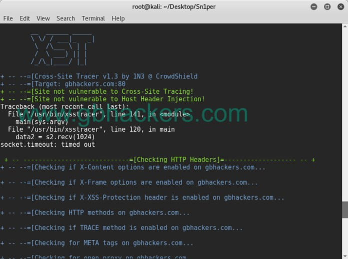 - sniper16 - Automated Information Gathering & Penetration Testing Tool