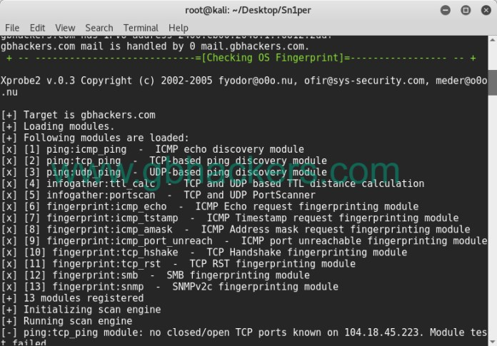 - sniper7 - Automated Information Gathering & Penetration Testing Tool