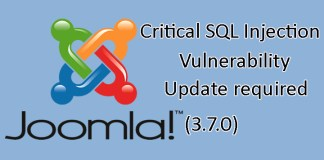 Joomla! 3.7.1 is released to address a critical SQL Injection Vulnerability