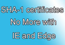 Microsoft boycott SHA-1 Certificates