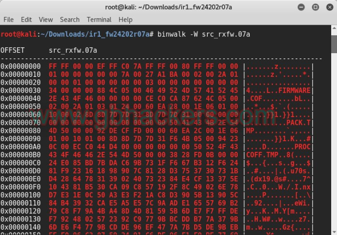 Analyzing embedded files and executable code with Frimware Images  - binwalk7 - Analyzing Embedded Files and Executable Code with Firmware