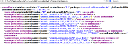 - permissions - Android Application Penetration Testing Part – 4