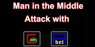 Man in the Middle Attack on Windows with Cain and Abel