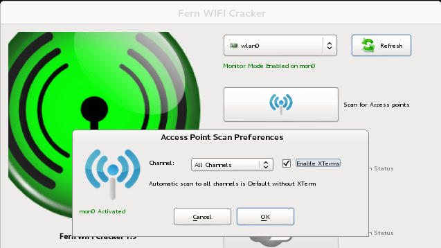 Wifi cracker – Pentesting Wifi Network with Fern WiFi