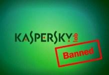 kaspersky security softwares ban