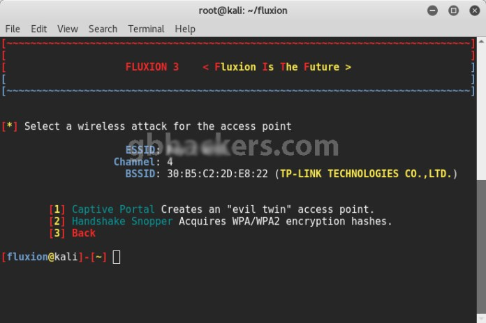 Fluxion  - Fluxion 6 1 - Cracking WPA/WPA2 Passwords in Minutes with Fluxion