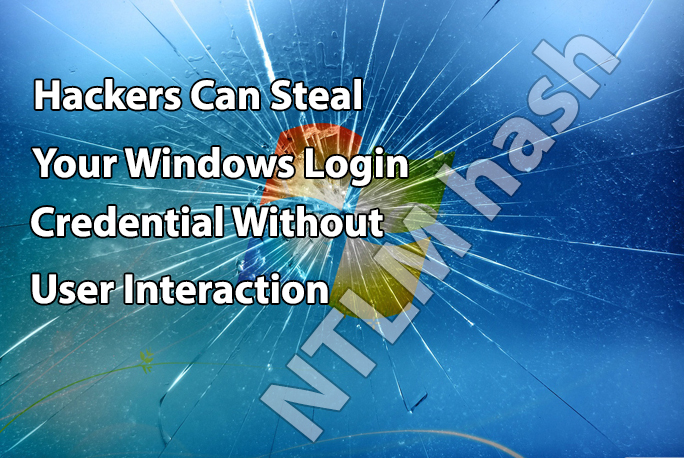 steal windows login Credential  - Windows - Hackers Can Steal Windows Login Credential by Crafting NTLM Hash
