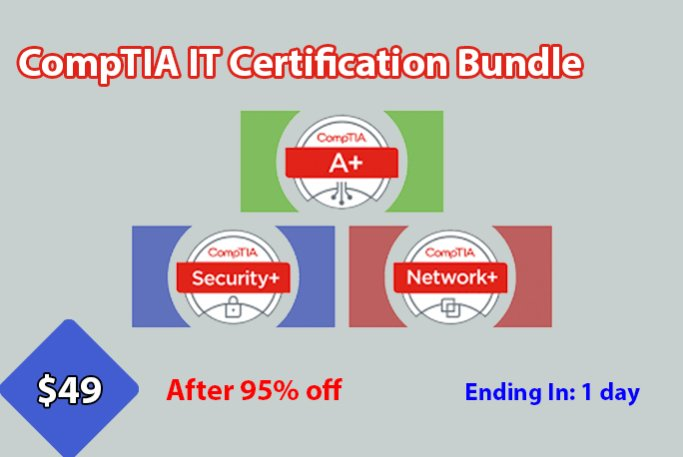 CompTIA Certification  - Comptia - CompTIA Certification 3 in 1 Bundle with A+, Network+, Security+