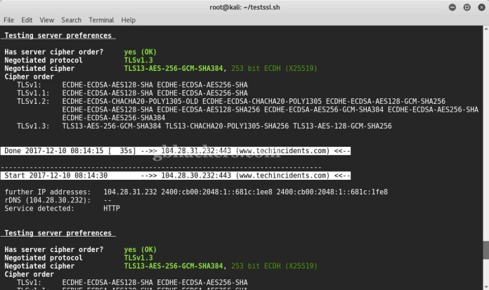 testssl.sh  - 12 - Tool to check TLS/SSL vulnerabilities and Ciphers