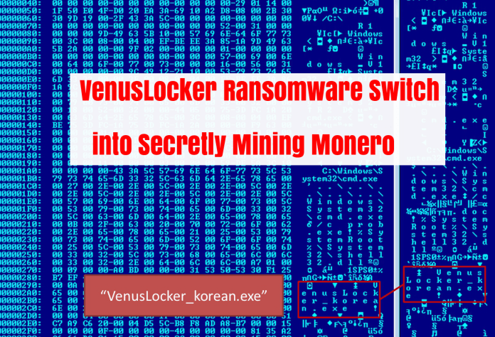 Monero cryptocurrency  - Pvlku1513887459 - Group Behind a VenusLocker Ransomware Mining Monero Cryptocurrency