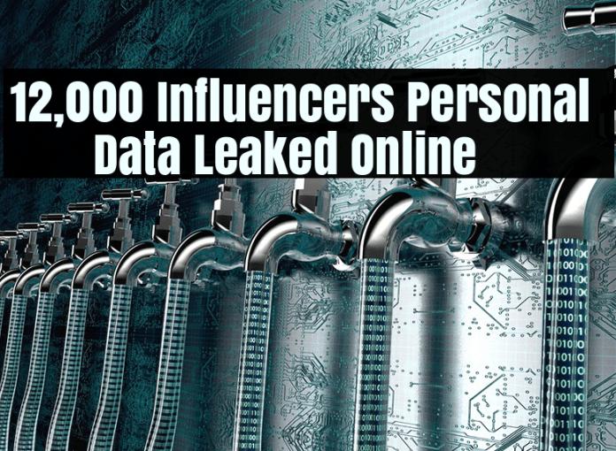 Data Leak  - Data Leaked 1 - Data Leak – 12,000 Social Media Famous Influencers affected