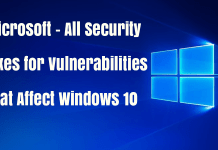 Microsoft Released security Patch