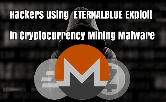 Cryptocurrency Mining Malware  - VIgPy1524704120 - Hackers using ETERNALBLUE Exploit in Cryptocurrency Mining Malware