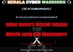 KCW Ransomware  - nAD6S1524948285 - Indian Hackers Group Hacked & Encrypt Pakistan Website Files Using KCW Ransomware