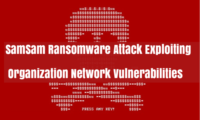 SamSam Ransomware  - pu56I1525032109 - SamSam Ransomware Attack Exploit Organization Network Vulnerabilities
