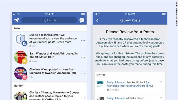 - 180607145328 facebook public bug 2 780x439 - Facebook Bug Leaks 14 million users Newc in Public