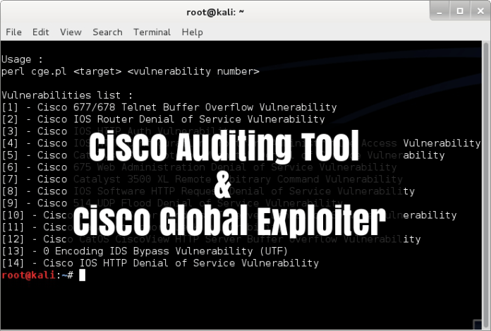 - 48czA1528035554 - Cisco Global Exploiter & CAT -Exploit 14 Vulnerabilities & Auditing in Cisco