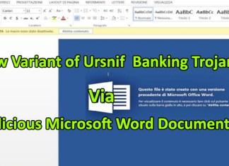 Ursnif Banking Trojan