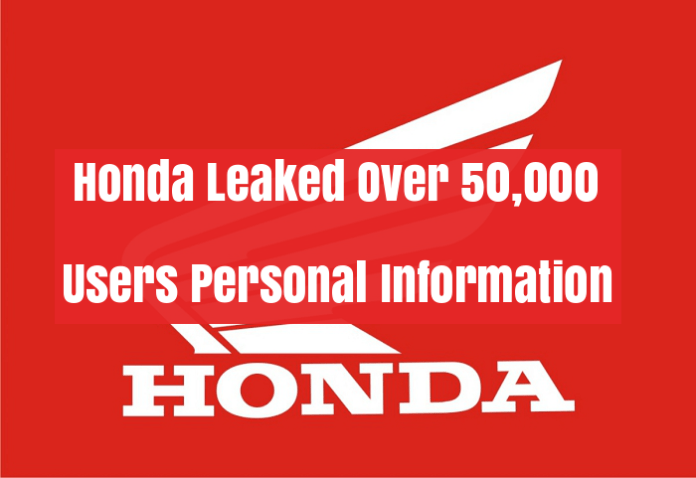 Honda Leaked  - lciuN1528197834 - Honda Leaked 50,000 Users Personal Data of it's Honda Connect App