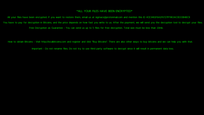 - machine screen 768x432 - Sigma Ransomware Attack From Russia IP's and Lock the Victims PC