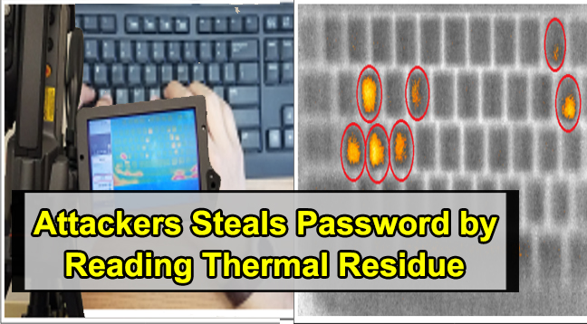 Thermanator attack  - Thermanator attack - Thermanator Attack – Attackers can Steal Password and PINs Typed on Keyboards