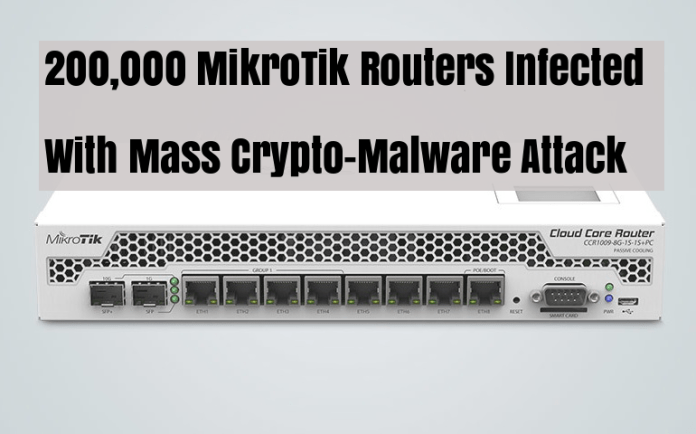 MikroTik Routers  - 1tnlH1533519262 - 200,000 MikroTik Routers Infected With Mass Coinhive Cryptojacking Attack