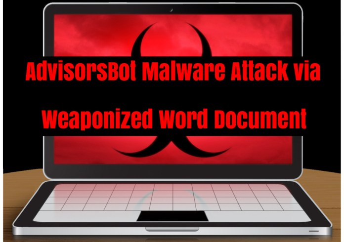 - cIXO21535346738 - AdvisorsBot Malware Attack on Hotel, Restaurant, and Telecommunication