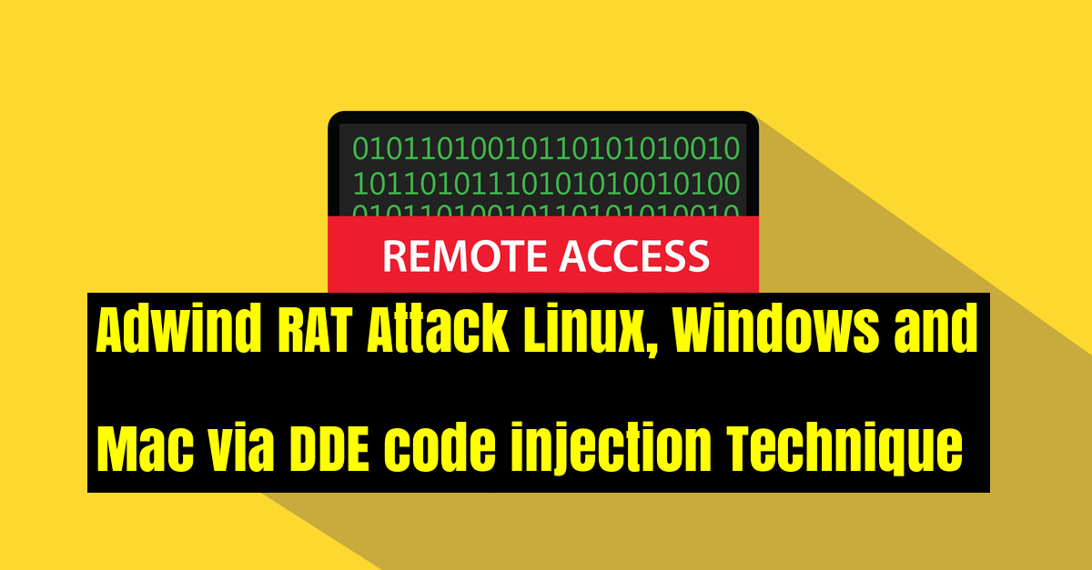 Adwind RAT Attack Windows & Mac via DDE code injection Technique