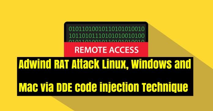code injection technique  - TsTQA1537946165 - Adwind RAT Attack Windows & Mac via DDE code injection Technique
