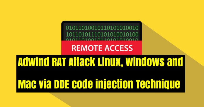 code injection technique  - TsTQA1537946165 - Adwind RAT Attack Windows & Mac via DDE code injection Technique