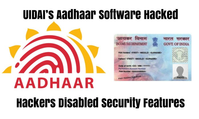 Aadhaar Software Hacked  - xMJLU1536682526 - UIDAI's Aadhaar Software Hacked – Hackers Disabled Security Features