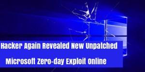 Unpatched Zero-day