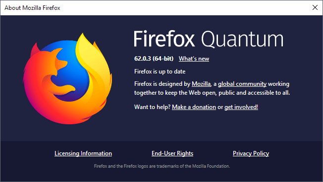Firefox 62.0.3