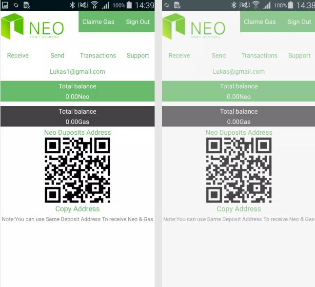 Fake cryptocurrency wallet