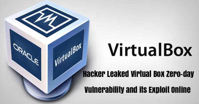 - ZIsxc1541594616 - Hacker Leaked Virtual Box Zero-day Vulnerability & its Exploit Online