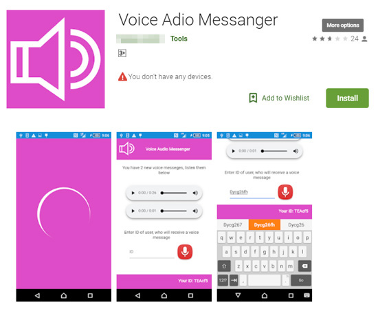 - botnet fake voice messenger app google play 1 - Voice Messenger – Several Malicious Apps on Google Play Steal User PII