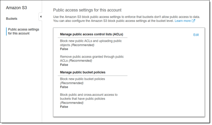 - cb account settings 3 - New S3 Block Public Access Feature To Stop Accidental Public Exposure