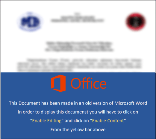 - office - PowerShell-based Backdoor Distributed Via MS Word document