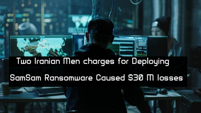 - t3Iv91543580219 - Two Iranian Men charges for Deploying SamSam Ransomware